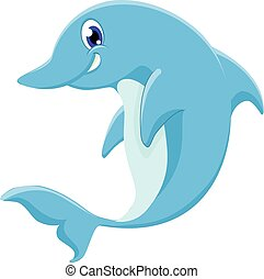 dolphin - cute dophin of vector