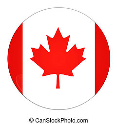 Canada button with flag - Abstract illustration: button with...