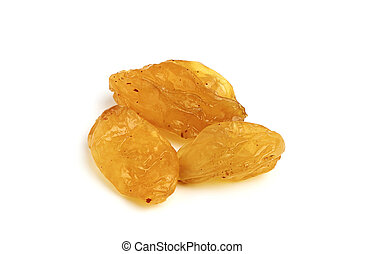 Yellow raisin close up - Yellow raisin close up isolated on...