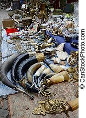 pulga, mercado, em, antigas, Tbilisi, Georgia,