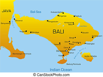 Bali country - Vector map of Bali country