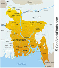 Bangladesh  - Vector map of Bangladesh country