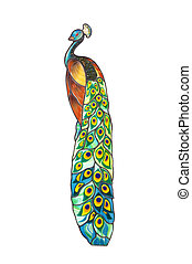 peacock / Stained glass window