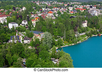 BLED, SLOVENIA - MAY 22: The town of Bled , Slovenia on May...