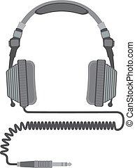vector dj headphones