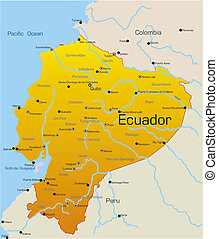 Ecuador country - Abstract vector color map of Ecuador...