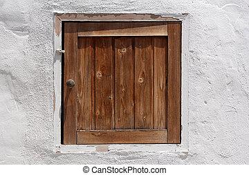 legno, vendemmia, otturatore, parete, Imbiancato