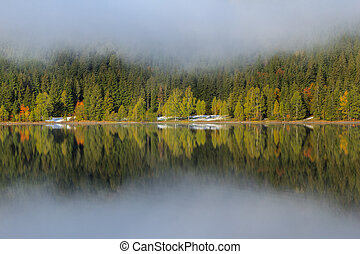 Saint Anna Lake - Autumn landscape at Saint Anna Lake which...
