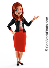 Young Corporate lady  - Illustration of corporate lady