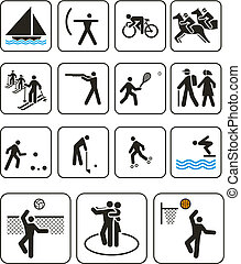ports olympic games signs - Vector illustration: sports...
