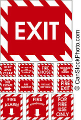 Red vector signs