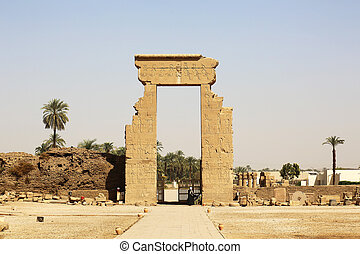 Main Gate Dendera Temple Egypt - the main gate of the...