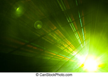 Abstract background with beautiful rays of light