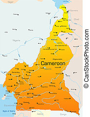 Cameroon country - Abstract vector color map of Cameroon...