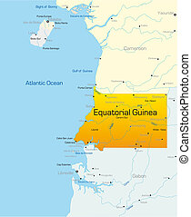 Equatorial Guinea country - Abstract vector color map of...