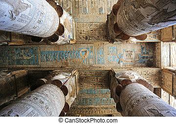 Dendera, tempel, egypten,