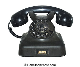 Old antique phone, isolated