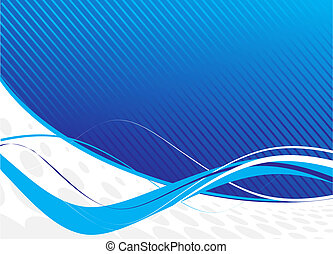 blue waves abstract design