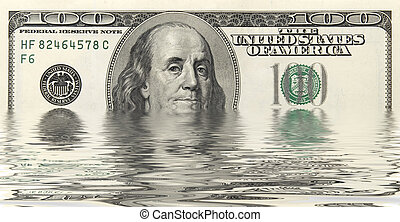 dollars in water - one hundred dollars in water
