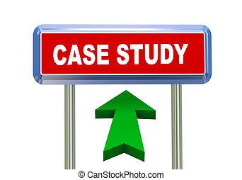 3d arrow road sign - case study