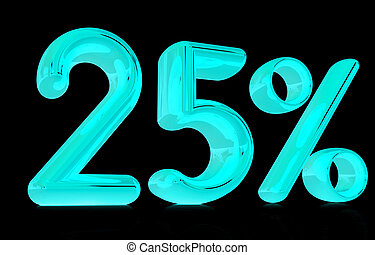 3d quot;25quot; - twenty five percent - 3d 25 - twenty five...