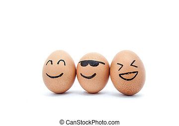 zabawa, jaja, przyjaciele