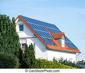 Alternative Energy for a Innovative House - Modern house...