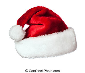 Santa hat on white - Santa Claus hat isolated on white...
