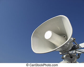 loudspeaker - white loudspeaker for anouncements
