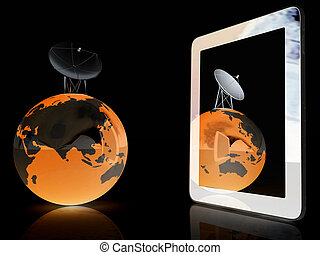 The concept of mobile high-speed Internet and planet earth...