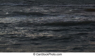 Wavy sea with ripple crests