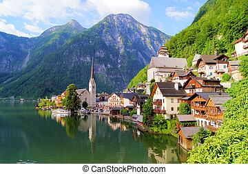 Austrian village in the Alps
