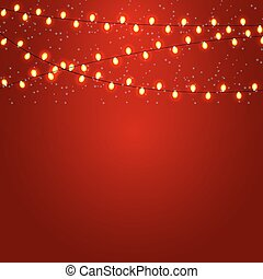 Christmas and New Year Background with Luminous Garland...