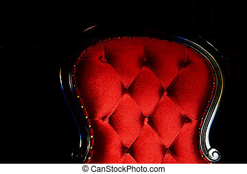red classic chair detail