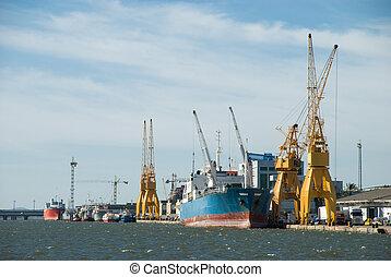 Huelva harbor - partial view of the Huelva harbor