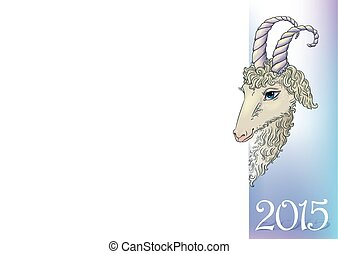 Year of the goat.  Contains transparent objects. EPS10