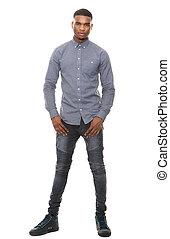 Full length handsome african american man - Full length...