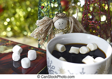 Christmas coffee - Christmas coffee fresh tasty hot in a...