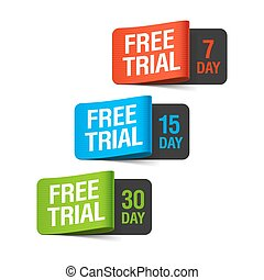 Free trial labels