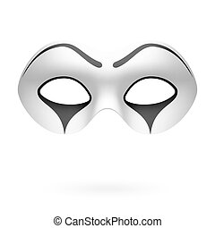Clown, mime mask illustration