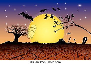 Doodle Halloween Background