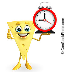 Cheese Character with table clock