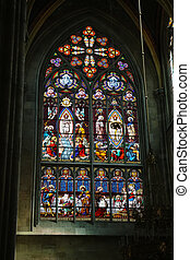 Stained glass art in Wien - Artistic work in Votivkirche...