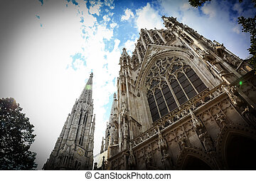 Votivkirche Votive Church in Vienna - View of Votivkirche...