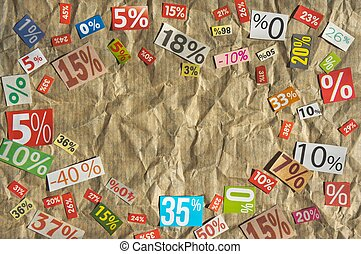 DISCOUNTS background with place for your text made...