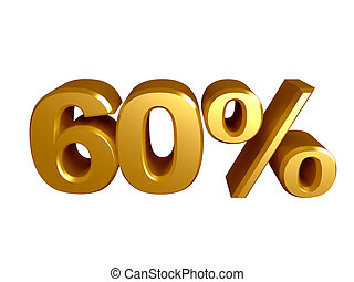 60 percent icon  - The number 60 and the percent icon