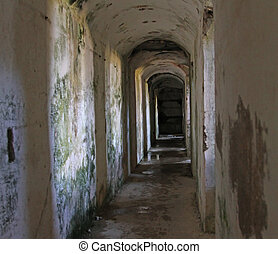long tunnel inside the fortification called Fort Sommo used...