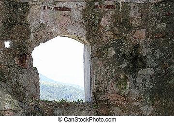 ventana, de, el, Sommo, Fortaleza, utilizado, por, el,...