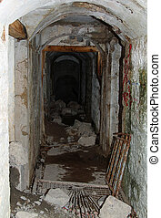 Internal Tunnel connecting of the abandoned Sommo Fort of...