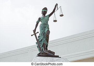 Lady Justice at Palace of Justice in Chetumal - Beautiful...
